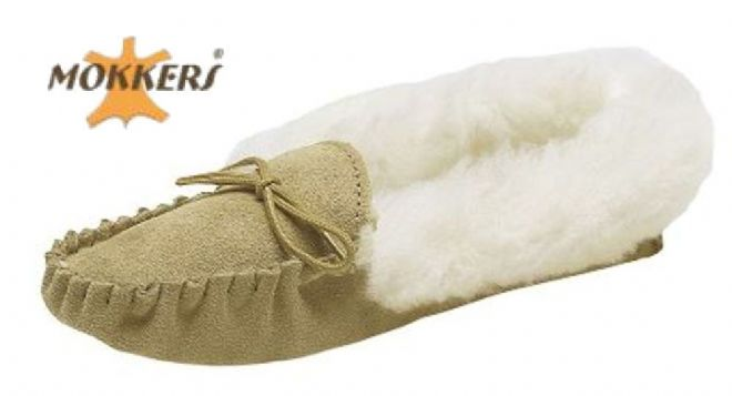 Ladies Soft Sole Suede Leather Moccasin Warm Lined   TAUPE